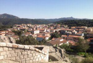 vista sui tetti del paese dal belvedere
